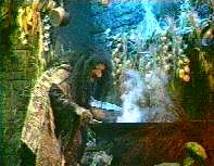 Grizelda at her cauldron.